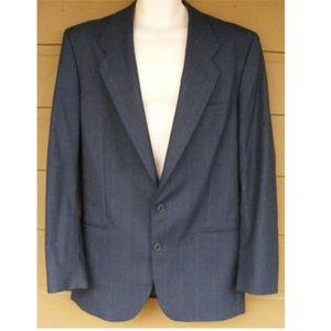 YVES SAINT LAURENT Jacket, 39/40R, Striped
